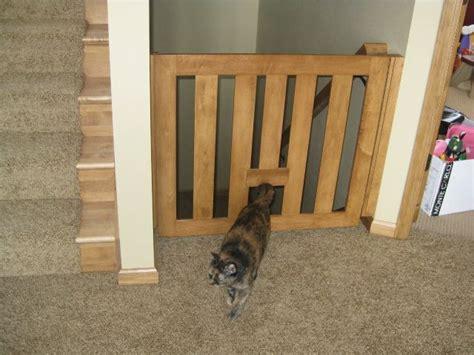 baby gate with cat door baby gate for steps with cat door