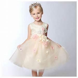 Dressing 150 Cm : flower girl champagne colour formal dress 100 150 cm ~ Teatrodelosmanantiales.com Idées de Décoration