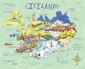Illustrated Map Iceland