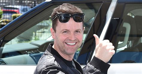 Declan Donnelly is all smiles as he arrives in Australia ...