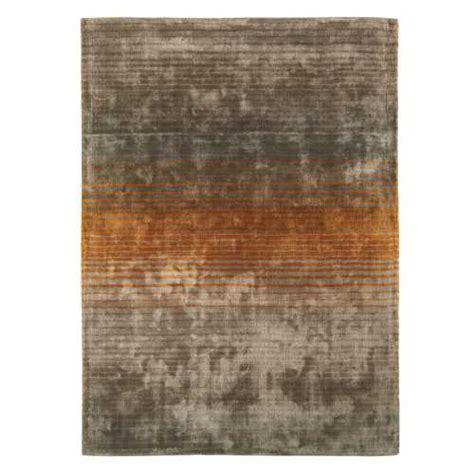 tapis gris et orange tapis design gris taupe et orange en viscose doux