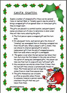 Santa Snatch also known as Dirty Santa fun Christmas