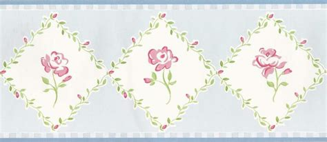 Wallpaper Border Country Pink And Red Roses Green Leaf