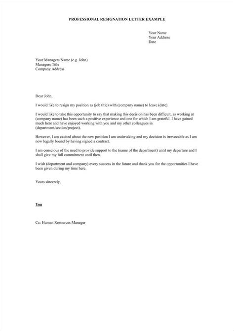 33+ Simple Resign Letter Templates  Free Word, Pdf, Excel Format Download  Free & Premium