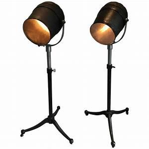 vintage pair of studio spotlight floor lamps for sale at With spotlight floor lamp for sale
