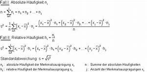 Freiheitsgrade Berechnen Statistik : formelsammlung zur beschreibenden statistik ~ Themetempest.com Abrechnung