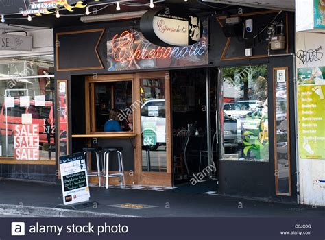 We started in the coffee business in 1989 and the havana train was off, whirling on the tracks. Espresso Holic coffee shop, Cuba Street (Center of cafe culture Stock Photo - Alamy
