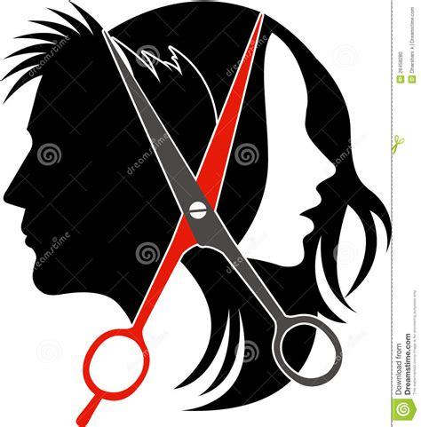 salon concept logo stock vector image  fashion haircut
