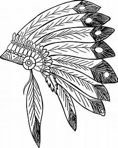 indian hat coloring page wwwimgkidcom the image kid With indian headdress template
