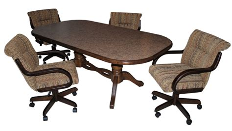 casual dining room sets with casters best dining room 2017