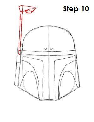 boba fett helmet template how to draw boba fett
