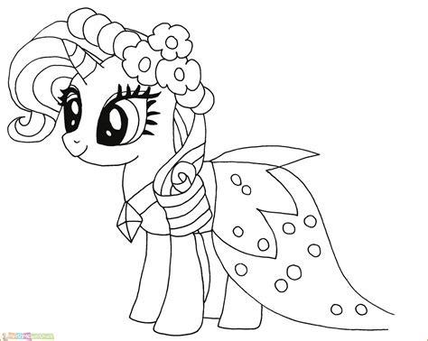 Coloring Kuda Poni by Gambar Kuda Poni Kartun Hitam Putih Ala Model Kini