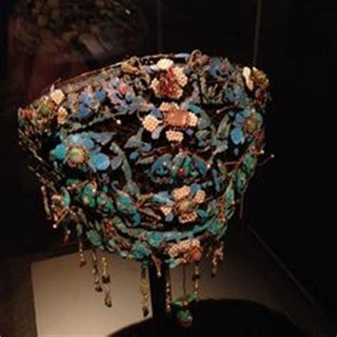 chinese headdress worn   imperial court circa