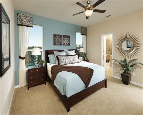 Bed Rooms With Blue Color, Luxury Blue Aquatic Paint