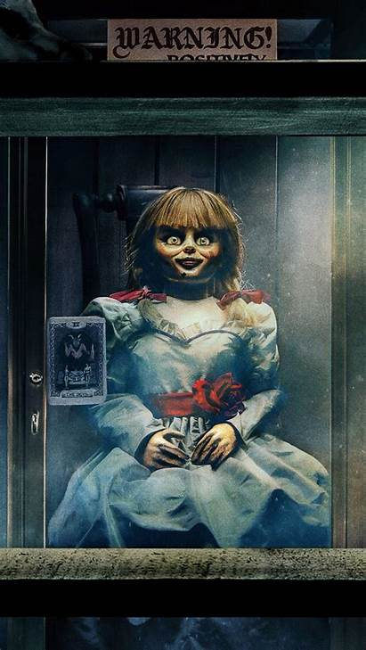 Annabelle Comes Doll Warning Wallpapers 8k 4k