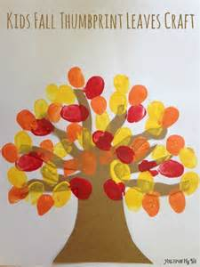 Thumbprint Leaves Kids Craft