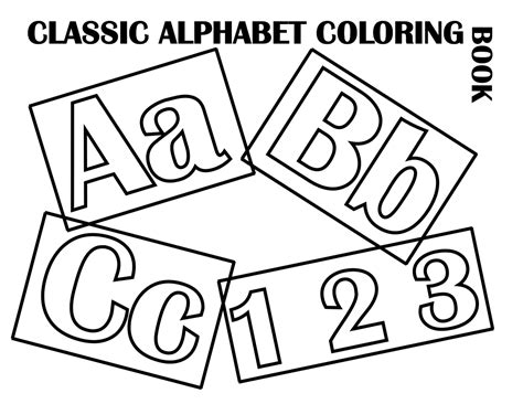 Classic Alphabet Cover At Coloring-pages-for-kids