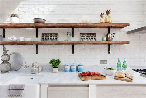 open kitchen island 20 rustic kitchen shelving ideas with timeless rugged charm
