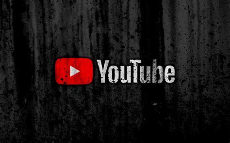 wallpapers youtube  logo grunge black