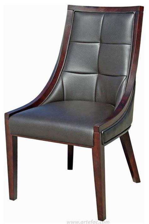 accent leather dining chairs brown leather traditional