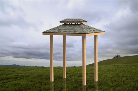 double hip roof grill shelter building plans