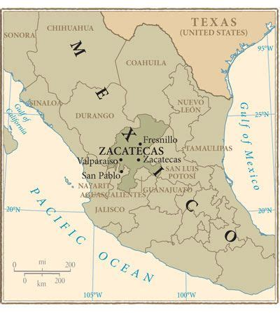 zacatecas mexico maps  travel information