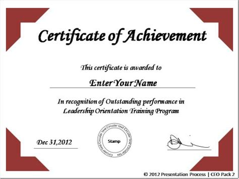 create printable certificates  powerpoint   jiffy