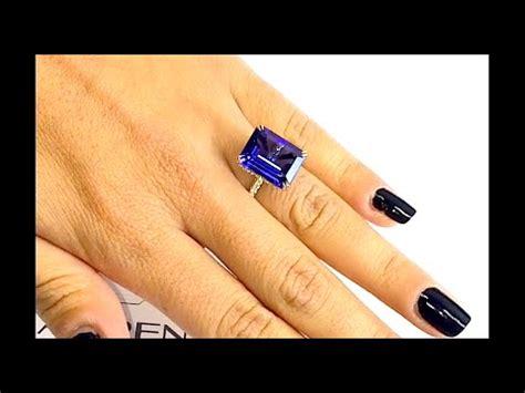 carat tanzanite engagement ring youtube