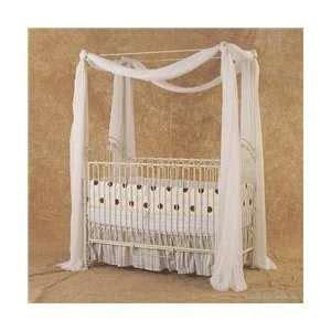 Bratt Decor Venetian Crib White by Bratt Decor Baby Cradle Wrought Iron Bassinet Rocking