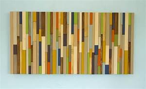 Modern wood art, Mid century wood wall art, new sculpture