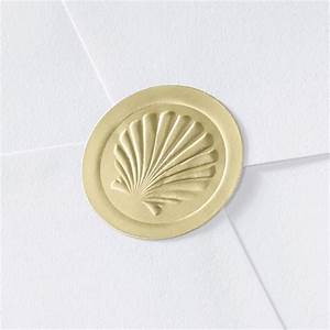 blank embossed shell seal invitations by dawn With embossed shell wedding invitations