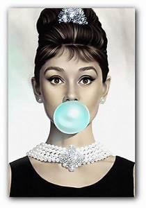 Audrey Hepburn Poster : audrey hepburn blue bubblegum canvas art print or poster by reverielaneprints on etsy https ~ Eleganceandgraceweddings.com Haus und Dekorationen