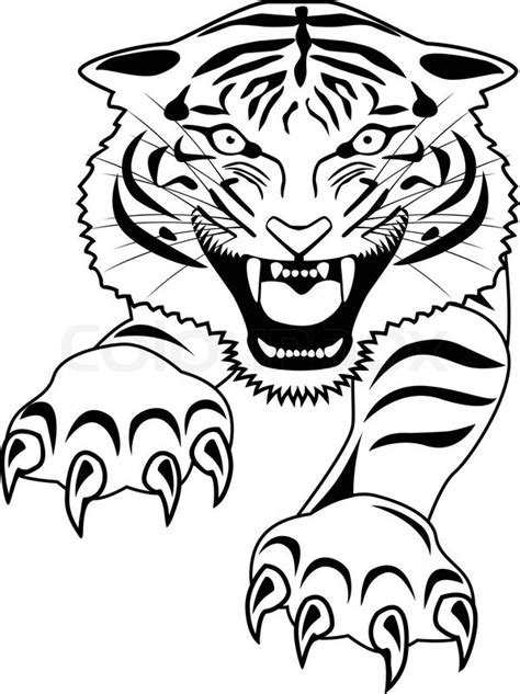 Tiger tattoo | Stock Vector | Colourbox