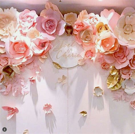 paper flowers backdrop paper backdrop pinterest