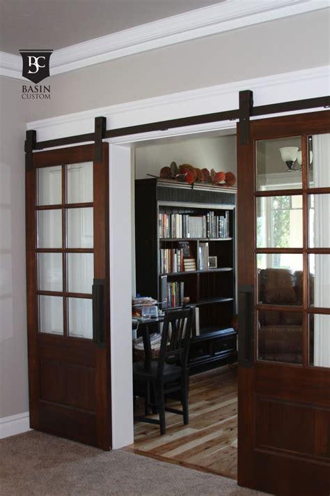 glass barn doors ideas  pinterest interior