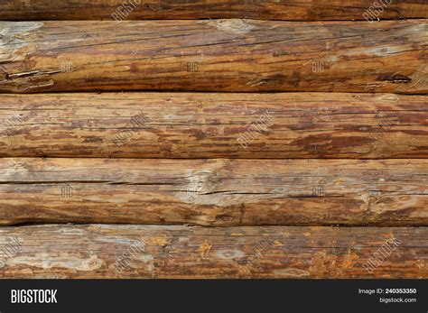 Wooden Logs Wall Image & Photo (free Trial)