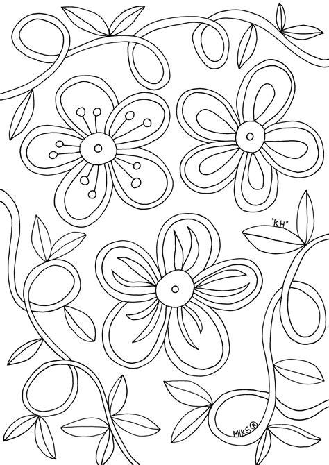 Kleurplaat Bloemen by Kleurplaat Bloem Printables T Bloem Moederdag En