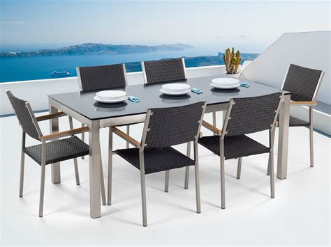Patio Dining Set For 6  Glass Table And Black Chairs. 4x8 Table. Best Gaming Desk Chair. Desk Chair For Hardwood Floors. Saw Tables. Foldable Computer Desk. Bathroom Drawer Organizers. Wall Mounted Standing Desk. Antique Teacher's Desk