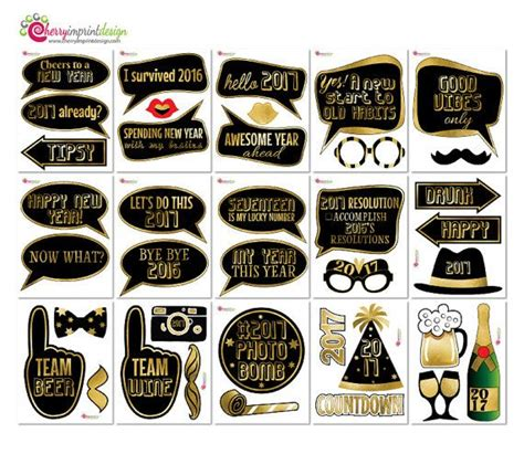 funny   year countdown photo booth props black
