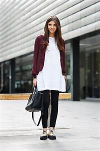 Skirt Over Pants... Dress Over Pants... The Long Over Long Trend - Outfits And Ideas - Just The ...