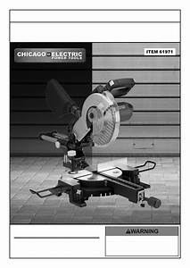 Harbor Freight Tools 10 In  Sliding Compound Miter Saw