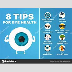 8 Tips For Eye Health Infographic How To Health Care Eyes — Stock Vector © Kahovsky #166176394