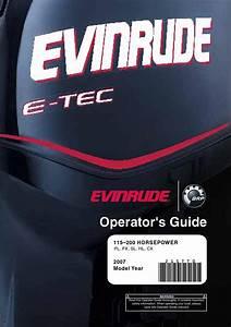 2007 - Evinrude E-tec 115 - 200hp Operator Guide