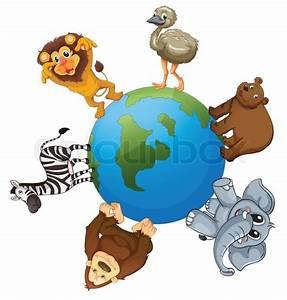 Tiere Unter Der Erde : verschiedene tiere auf der erde vektorgrafik colourbox ~ Frokenaadalensverden.com Haus und Dekorationen