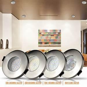 Led Spot Dusche : badezimmer einbaustrahler ip65 dusche 3w 4w 5w gu10 led leuchtmittel 230v ebay ~ Markanthonyermac.com Haus und Dekorationen