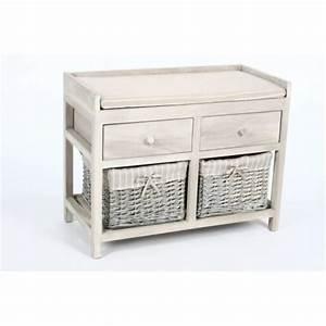 Rangement Tiroir Bois : meuble rangement avec panier maison design ~ Premium-room.com Idées de Décoration