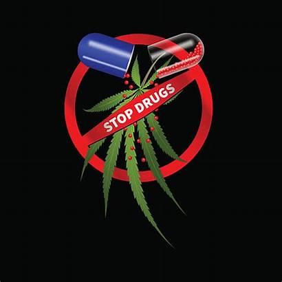 Drugs War Clip Vector Illustrations Cannabis Pills