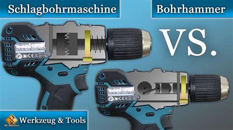 unterschied zwischen sds sds plus bohrer schlagbohrmaschine vs bohrhammer die unterschiede und worauf sollte beim kauf achten