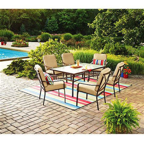 walmart com mainstays crossman 7 piece patio dining set