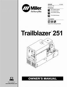 Miller Trailblazer 251 Owner S Manual